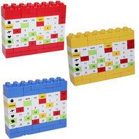 Novelty DIY Perpetual Calendar Changeable Puzzle Bricks Calendar Creative Gifts 3 Color Freeshipping