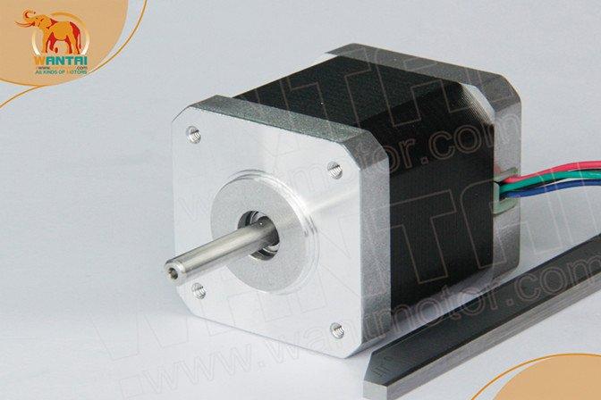 Good Quality! Wantai Nema17 Stepper Motor 42BYGHM810 0.9degree 4200g.cm 48mm 2.4A 5mm shaft CE ROHS ISO 3D Printer Reprap Robot(China (Mainland))