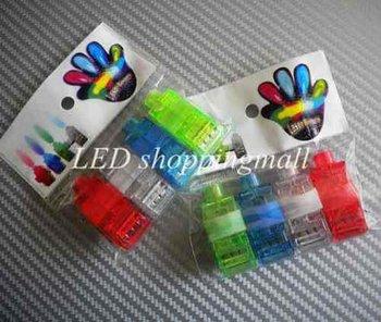 600pcs/lot Hotsale LED finger light,Leaser lamp,Halloween Gift Beams Ring, night light,flashing children toy Free shipping