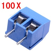 2 Pin Screw Terminal Block Connector 5mm Pitch 100Pcs/Lot