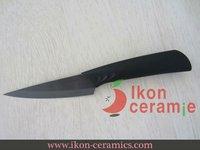 "Free Shipping! High Quality 3.5"" Ikon Ceramic fruit knife New 100% Zirconia ceramic knife (AJ-3.5B-CB)"