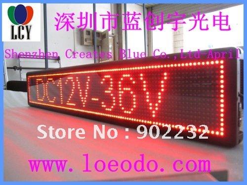 Free ship/2pcs/led car display/taxi sign/LED moving screen/DESK BOARD/16by112/led 546 lamp/9v-36v/lot/led advertising sign(China (Mainland))
