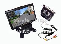 "Wireless 18 IR LED IR Reversing Camera 7"" LCD TFT Monitor Car Rear View Kit"