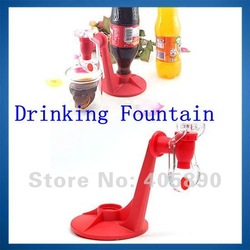 Coke Bottle Inverted Soft Drink Dispenser with Fizz Saver Switch Beverage Device(China (Mainland))