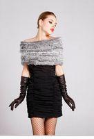 Free Shipping Retail/wholesale/OEM Natural Fur pashmina Factory Sale Women Rabbit Fur Knitted Ring Scarf