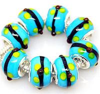 Min.order is $10( mix order ) T9 FREE SHIPPING 5pcs Ceramics European Beads Fits Charm Bracelet
