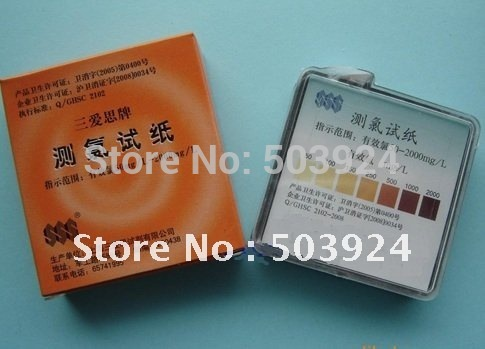 swimming pool &amp;spa chlorine strip, chlorine kit, test kit(China (Mainland))