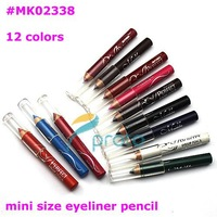 Freeshipping- Lof of 12 Color Mini Size Eyeliner Pencil Makeup Tool Dropshipping Retail SKU:M0035