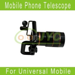 8x Zoom Optical Lens Mobile Phone Telescope Camera for Universal Phone lens+holder Free Shipping(China (Mainland))