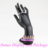 Wholesale High Quality Black Resin Hand Form Bangle Bracelet Ring Jewellery Display Stand Holder