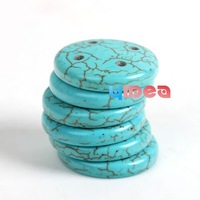 Wholesale - FREE SHIP 100pcs Four Hole 22mm Dia Round Shaped Turquoise Craft Buttons 111313