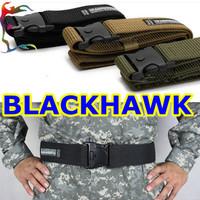 Wholesale 6pcs/Lot man Blackhawk military belt strong camo canvas belt police solder tactical waistband gridle Free ship