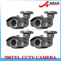 Free Express (4) Waterproof Long Distance High Resolutiom 700TVL EFFIO-E Sony Color CCD Array IR CCTV Security Camera AR-APG01