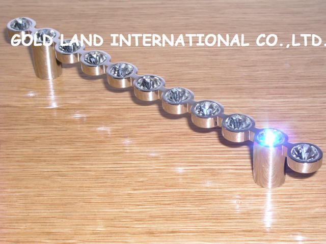 128mm Free shipping K9 crystal glass drawer pull handle furniture handles/ wardrobe door handle(China (Mainland))