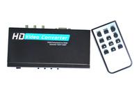 Free shipping--HD Video Converter VGA/YPbPr to HDMI Upscaler 720P/1080P Audio/VGA input