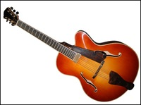 Wholesale Fully handmade jazz guitar with solid wood,2012 hot sale