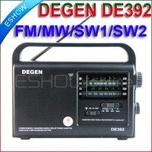 DEGEN DE392 FM/TV MW SW Crank Dynamo Solar Emergency Radio World Receiver A0799A eshow
