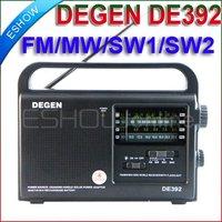 DEGEN DE392 FM/TV MW SW Crank Dynamo Solar Emergency Radio A0799A World Receiver