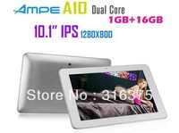 in Stock 10.1 inch IPS Android 4.1 Tablet PC Ampe A10+16GB ROM+1GB RAM+RK3066 Dual Core 1.6GHz+1280*800