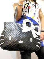Brand Hello Kitty New 2014 Fashion Japan and Korean Style Women Handbags Animal prints Bow bag PU leather Shoulder bags