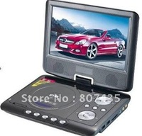 Free shipping New Arrival  Cheap 9 inch portable DVD player(size:220*190*42cm)can play SD / MS / MMC/CD/ VCD/DVD/MP3/JPEG/MPEG4