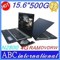 New hot sale tablet pc laptops 15.6 inches win 7 OS WiFi intel D2800 4G RAM 500GB HDD cheap price French Italy Irish Russia Win7