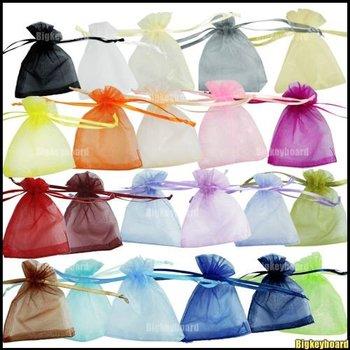 100 pcs Organza Jewelry Wedding Gift Pouch Bags 7x9cm /3X4 Inch Free Shipping