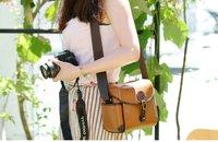 retro leather shoulder bag, camera bag