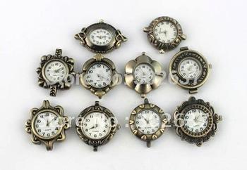 10PCS Mixed Lots Antiqued Bronze Watch Face #20960