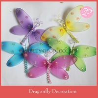 "Free shipping ! 10 "" Dragonfly garden ornaments,artificial dragonfly ,Kids room decoration( 10pcs / lot)"