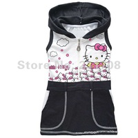 Girls 2T-6T Little Hooded Terry Dress Suitable for height 90 - 130cm 1pcs/lot