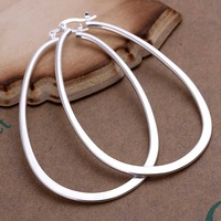 Factory price top quaility 925 sterling silver jewelry earring fine hoop massy perfect  clip drop stud earrings  SMTE001