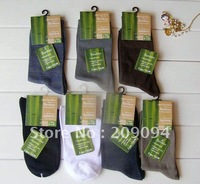 Freeshipping Bamboo fiber men&#39;s socks .the color mixed shipped to you .Per Package contains many Colors