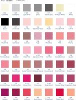 Single Face/Double Face/Grosgrain  Satin Color Chart