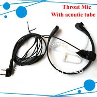 Freeshipping Throat Vitration mic Earphone/Earpiece for two way radio  TYT wouxun  HYT Baofeng Beifeng Most Chinese radio