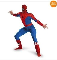 EXPORT USA WITH TAG FOR  sponge party supplies halloween CostumeAdult Mens Marvel Spider-Man Hero Deluxe Muscle Costume