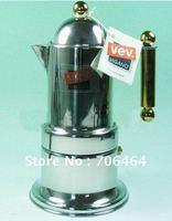 Free shipping 4 cups High quality Moka coffee maker,Espresso coffee pot stainless steel moka coffee machine