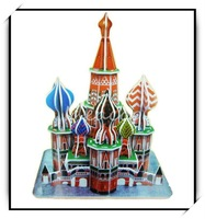 3D Super Puzzle of Castle For Kid's Birthday Christmas Gift Creative DIY Handmade Toy(QY-006)
