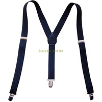 Children Toddlers Clip-on Adjustable Suspenders Braces Infants Elastic Y-Back  Black Gallowses
