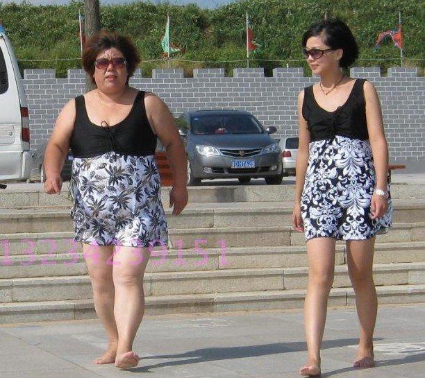 2012 Hot One Piece Fashion Swimwear for Fat Women Black&White Swimsuit ...