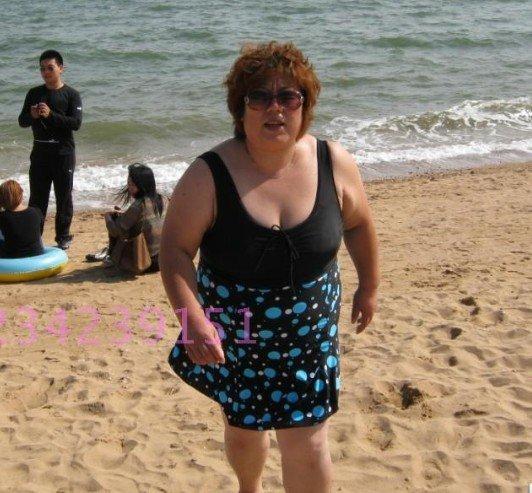 2012 Hot One Piece Fashion Swimwear for Fat Women Blue Dot Swimsuit ...