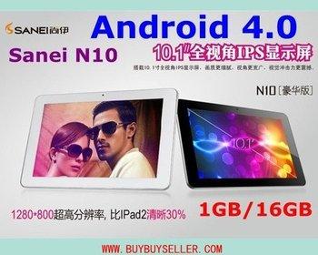 Sanei N10 IPS Android 4.0 10inch Tablet pc Allwinner A10 1GB RAM 16GB ROM HDMI WIFI
