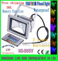 10PCS/LOT 10W RGB LED Flood Light spotlight Waterproof Warm / Cool white / RGB Remote Control FloodLight  85-265V