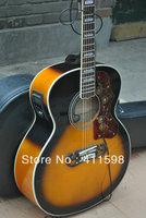 Wholesales sj-200 acoustic electric guitar Vintage Sunburst With 5 Brand EQ Pickups acoustic electric guitar