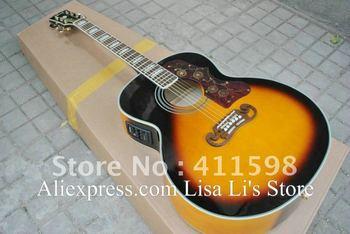 Wholesale sj200 Acoustic Guitar Vintage Sunburst with Fishman presys blend Pickups Acoustic Electric Guitar free shipping
