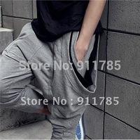 2015 hip hop dance pantalone male banana cropped harem baggy pants men low drop crotch Pants men jogging sweatpants,slacks calca