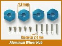 Alu Wheel Hub unit for HSP 1/10th 4WD R/C  / Tamiya TRF414M  TRF414M WCR and the TB-Evolution II  --4PCS