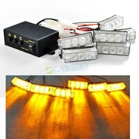 New Amber Car Truck Boat 18 LED Strobe Flash Light Emergency Super bright ,Free shipping! 4027