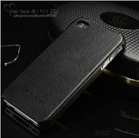 Top Quality Genuine leather case for Iphone 5s 5g 4s 4g Original Faddist back cover Ultrathin leather hard case for iphone 4g