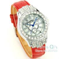 2pcs/lot Women's Crystal Shell wrist watch wristwatch quartz watch ladies watch fashion watch